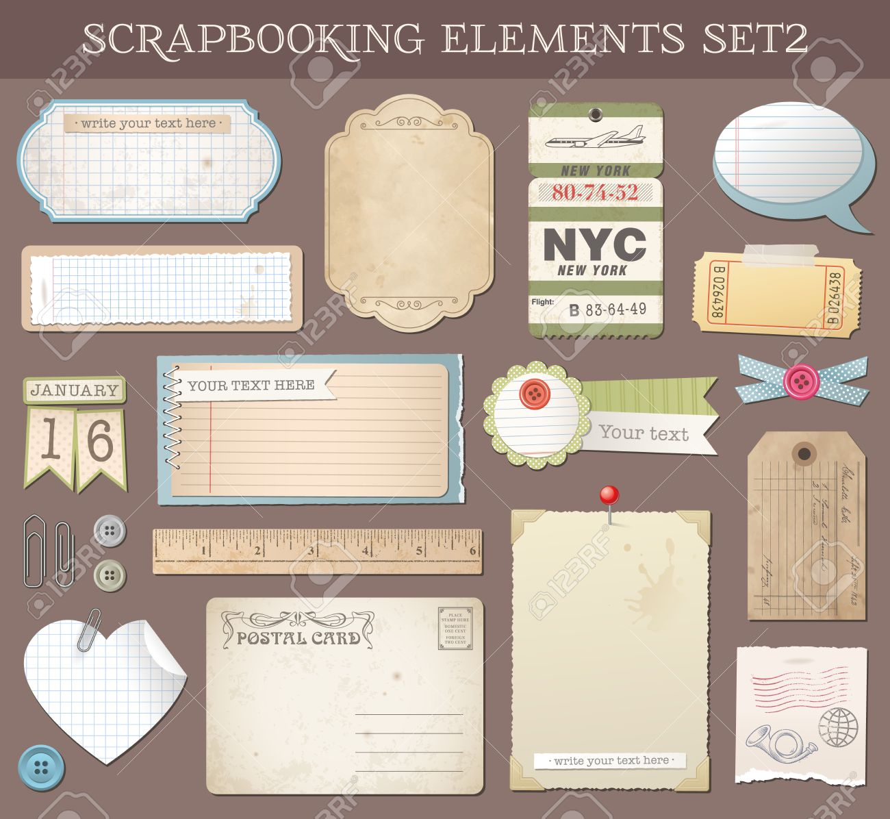 Scrapbooking Tags Templates Printable Shapes 6