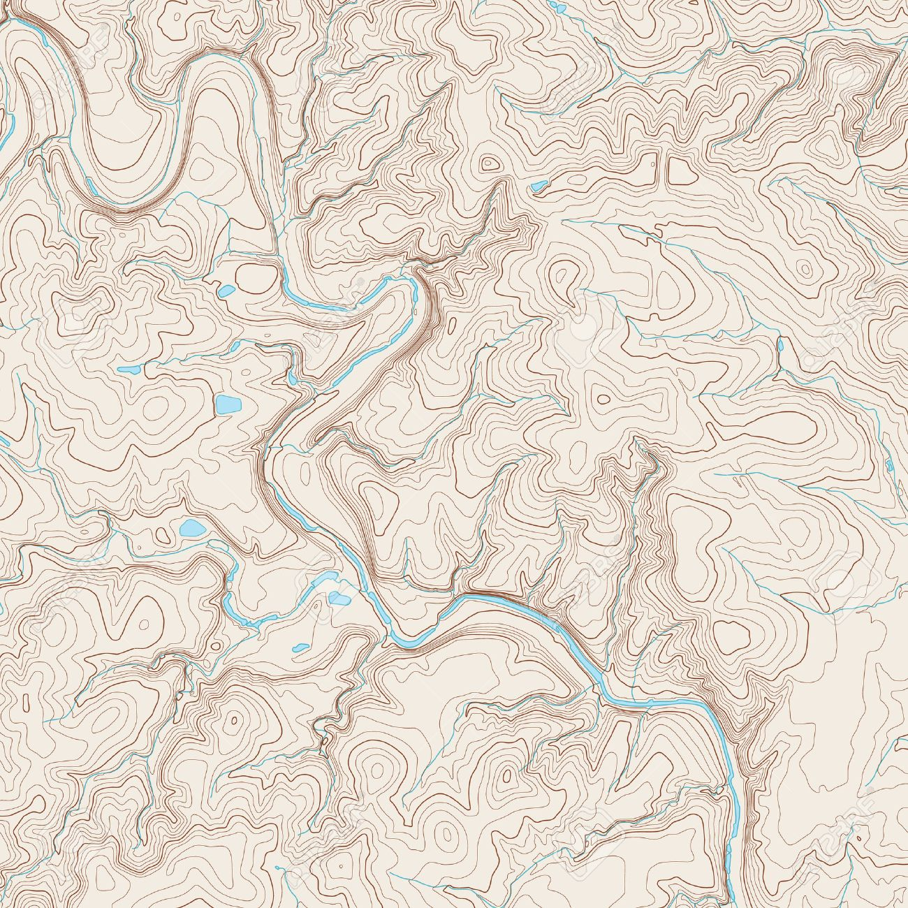 Realistic Topographic Map Of An Area West Of Austin Texas Vector - Topographical map of texas