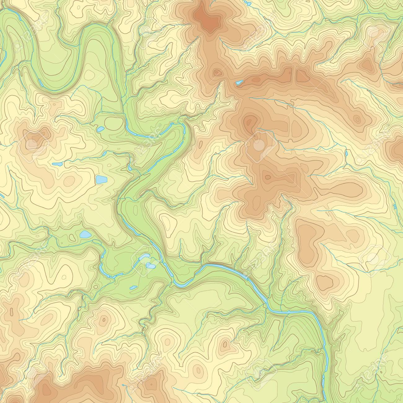 Realistic Topographic Map Of An Area West Of Austin Texas Vector - Texas topographic maps free
