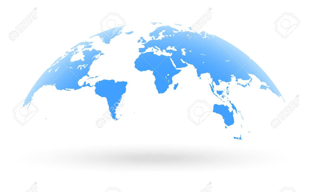 Detailed blue world map mapped on an open globe isolated on detailed blue world map mapped on an open globe isolated on white background stock gumiabroncs Images