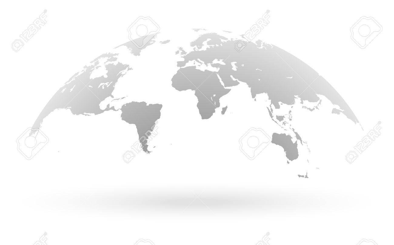 Detailed grey world map mapped on an open globe isolated on detailed grey world map mapped on an open globe isolated on white background stock gumiabroncs Choice Image