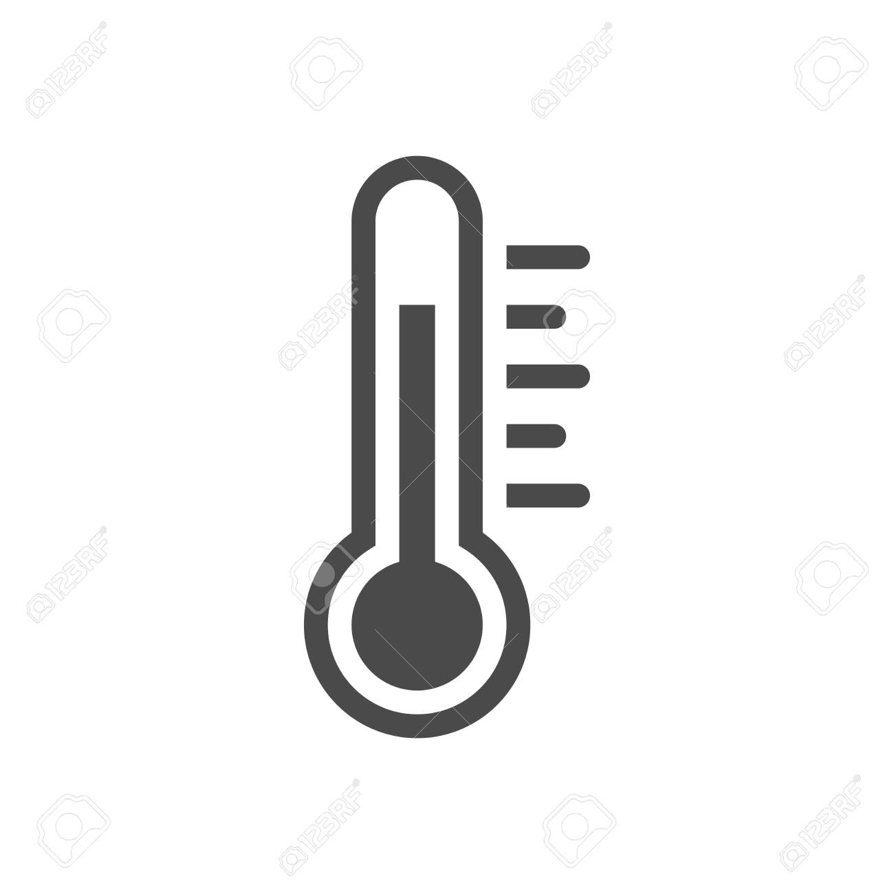 Flat Temperature icon - 131765938
