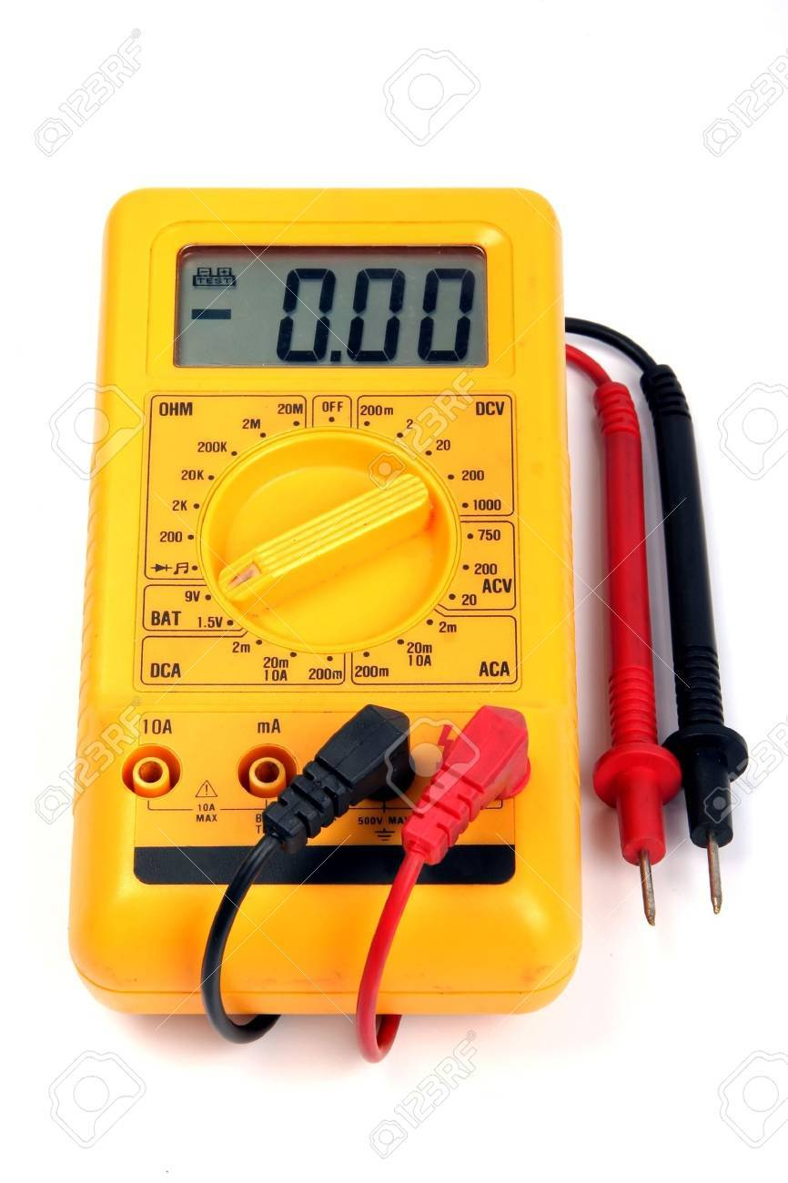 Multimeter isolated on a white background Stock Photo - 2448072