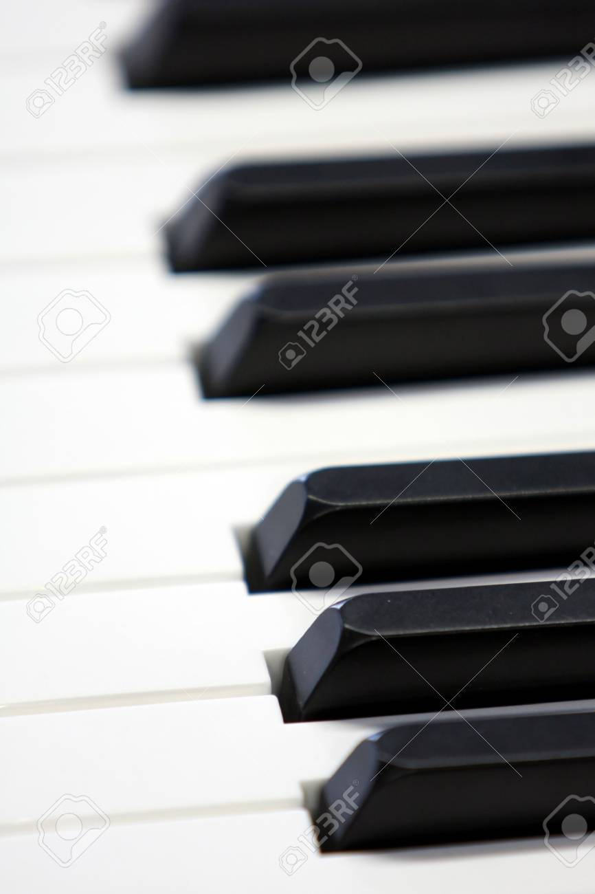 Closeup of Piano Keys with selective focus Stock Photo - 4323539