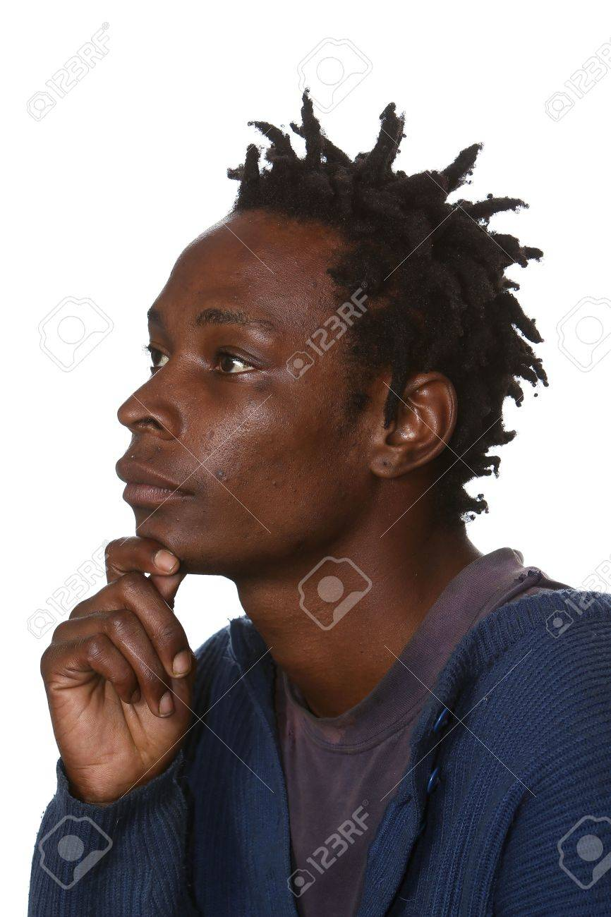 Phenomenal Young Black Man With Dreadlocks Hairstyle Isolated Stock Photo Hairstyles For Men Maxibearus