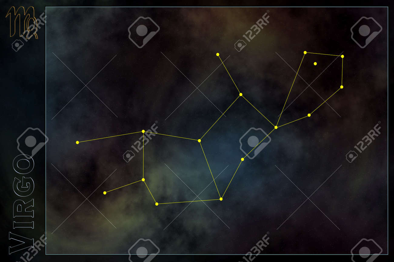 Zodiac constellation - Virgo Stock Photo - 512169