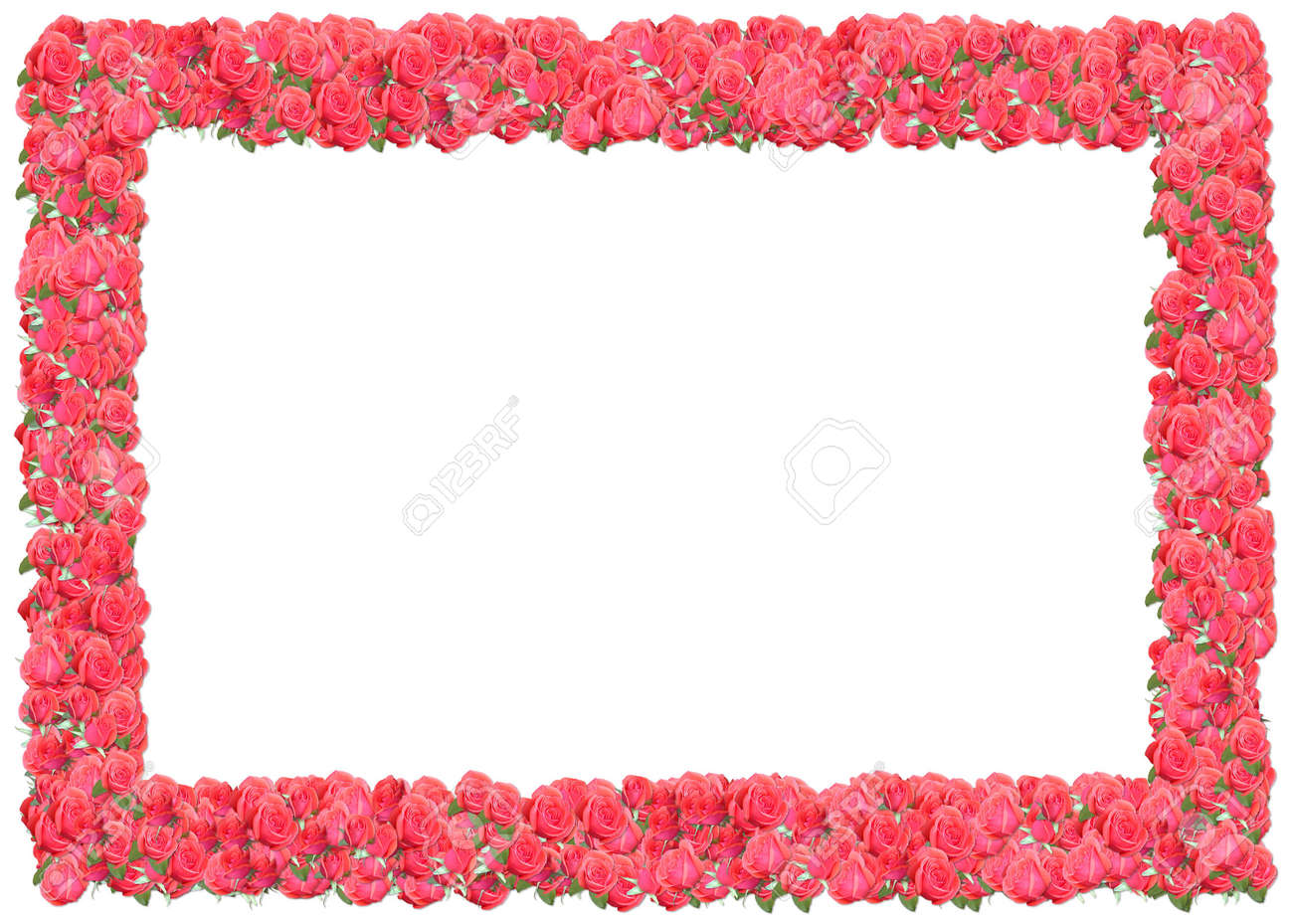 Pink Roses Frame. From The Floral Frames Series Stock Photo, Picture ...