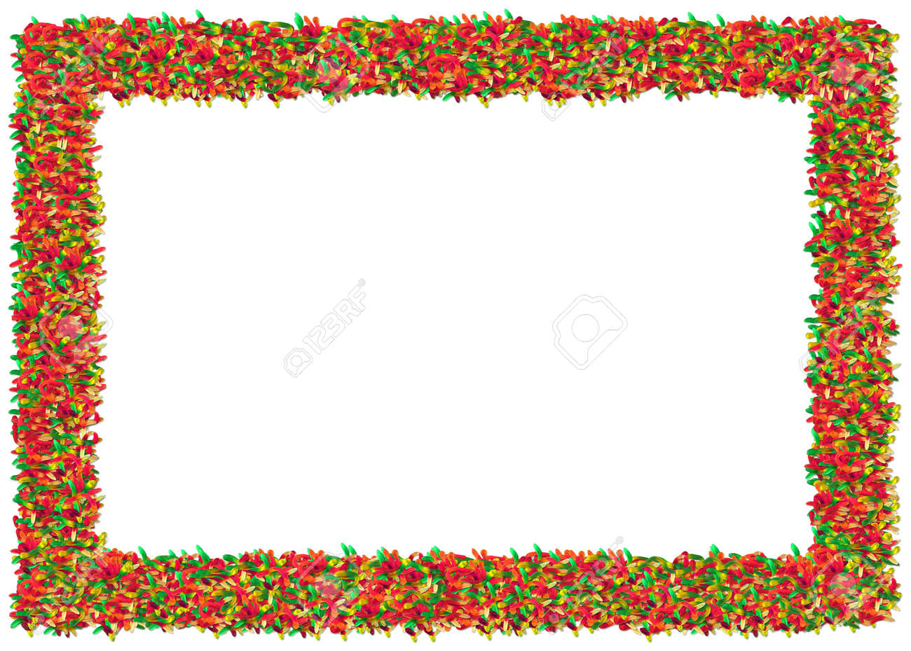 Gummy Worms Frame. From The Food Frames Series Stock Photo, Picture ...