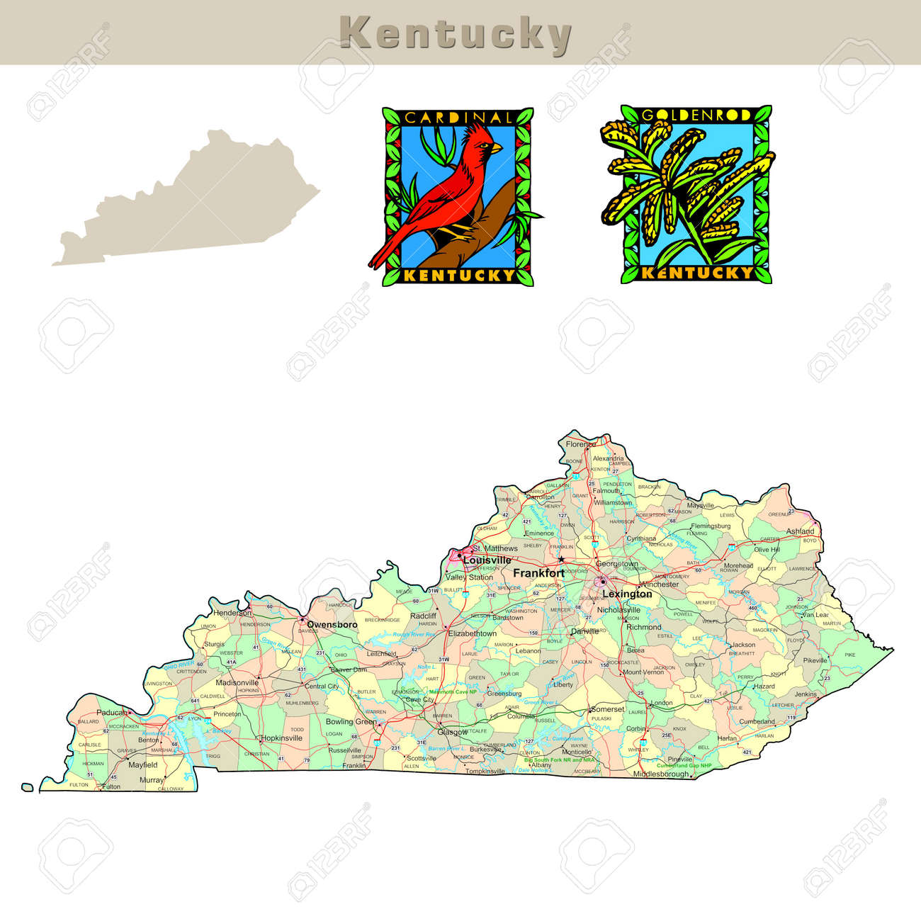 USA states series: Kentucky. Political map with counties, roads,.. on kentucky state legislative map, kentucky state map detailed, tennessee virginia and north carolina map, kentucky state road map, kentucky physical map, kentucky state travel map, kentucky state home, pittsburgh political map, kentucky state climate, memphis political map, kentucky state symbols, kentucky state resource map, kentucky state city map, kentucky state outline map, kentucky state map key, kentucky state outline printables, missouri political map, kentucky state bird, alabama political map, kentucky state map with cities and rivers,