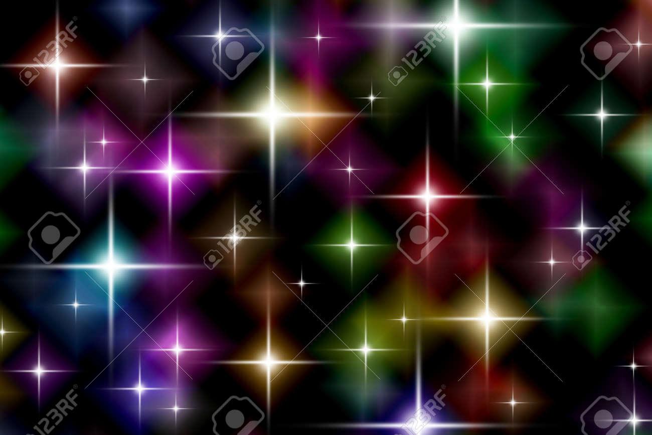 Festive starry lights background Stock Photo - 1704522