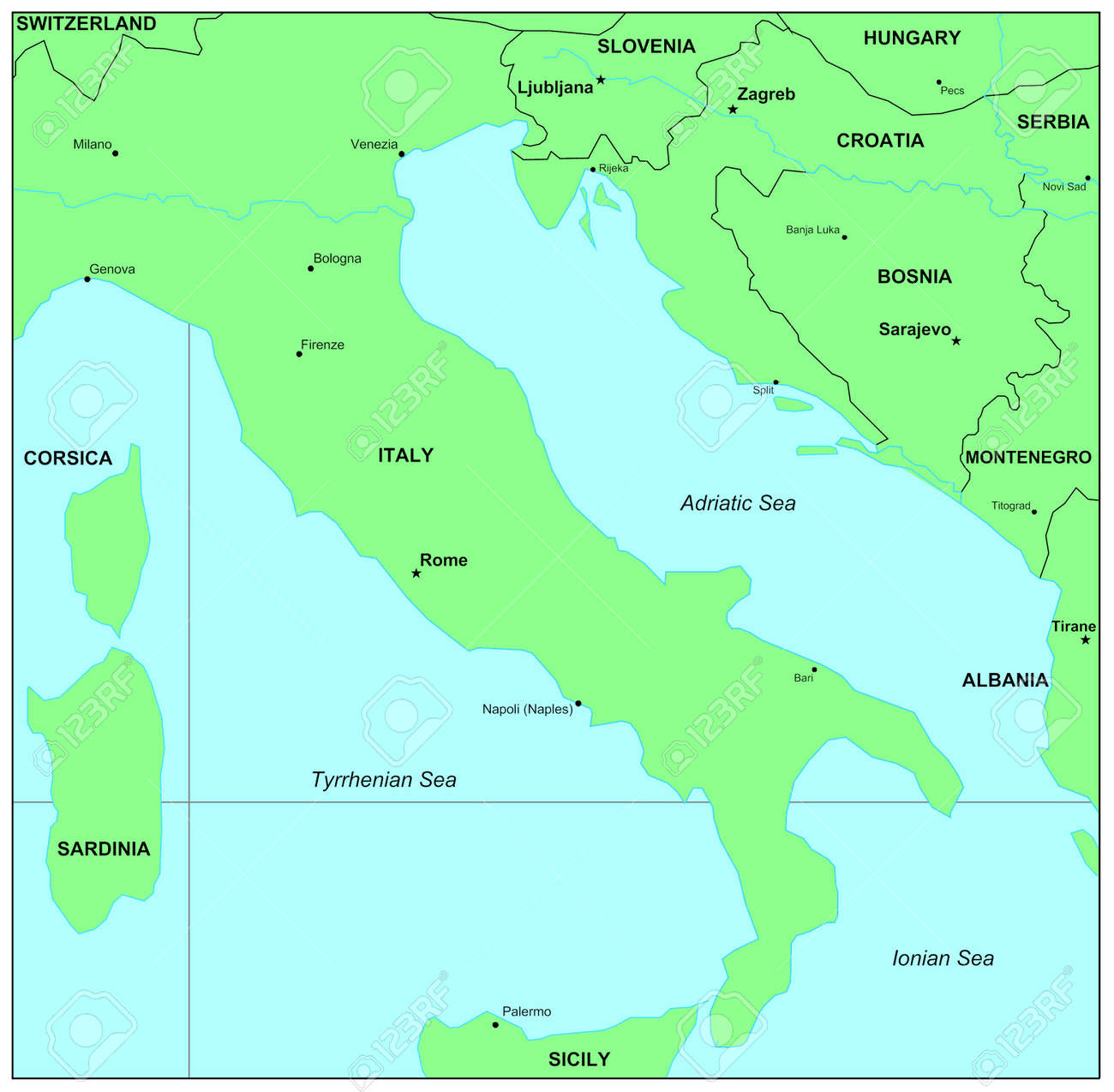 Map Of Adriatic Sea Sea Maps Series: Adriatic Sea Stock Photo, Picture And Royalty  Map Of Adriatic Sea