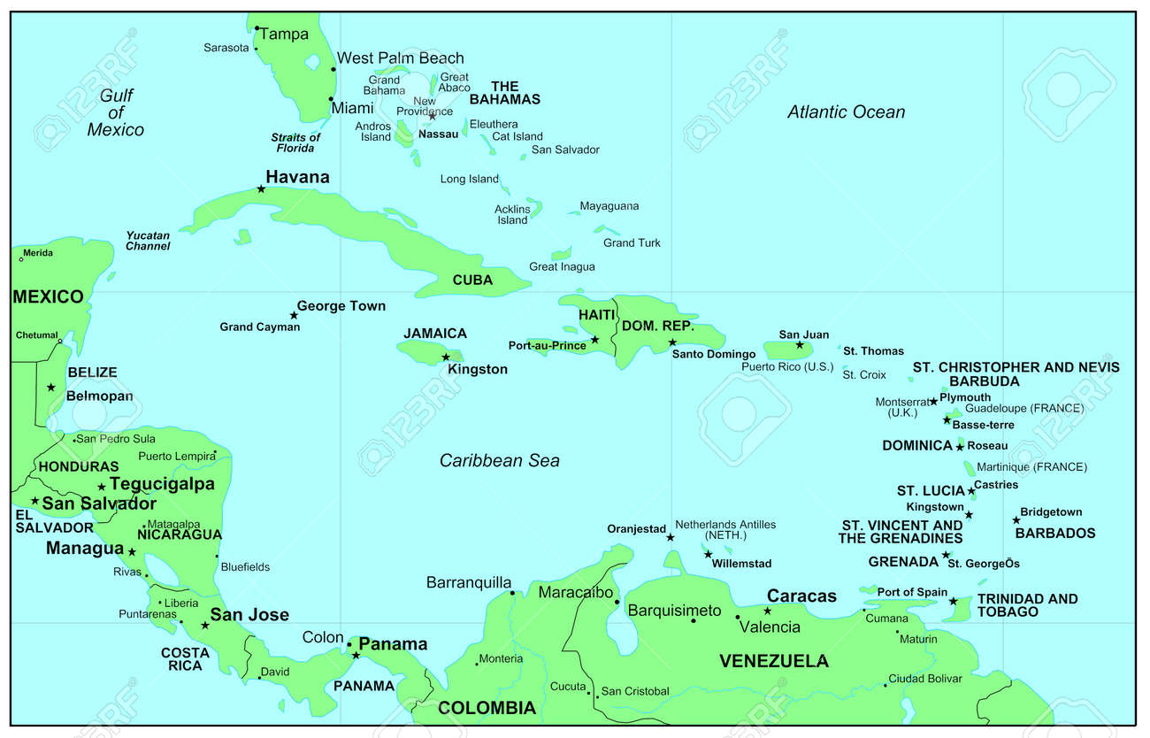 Map Of The Caribbean Sea Palo Alto College Map - Map of the carribean