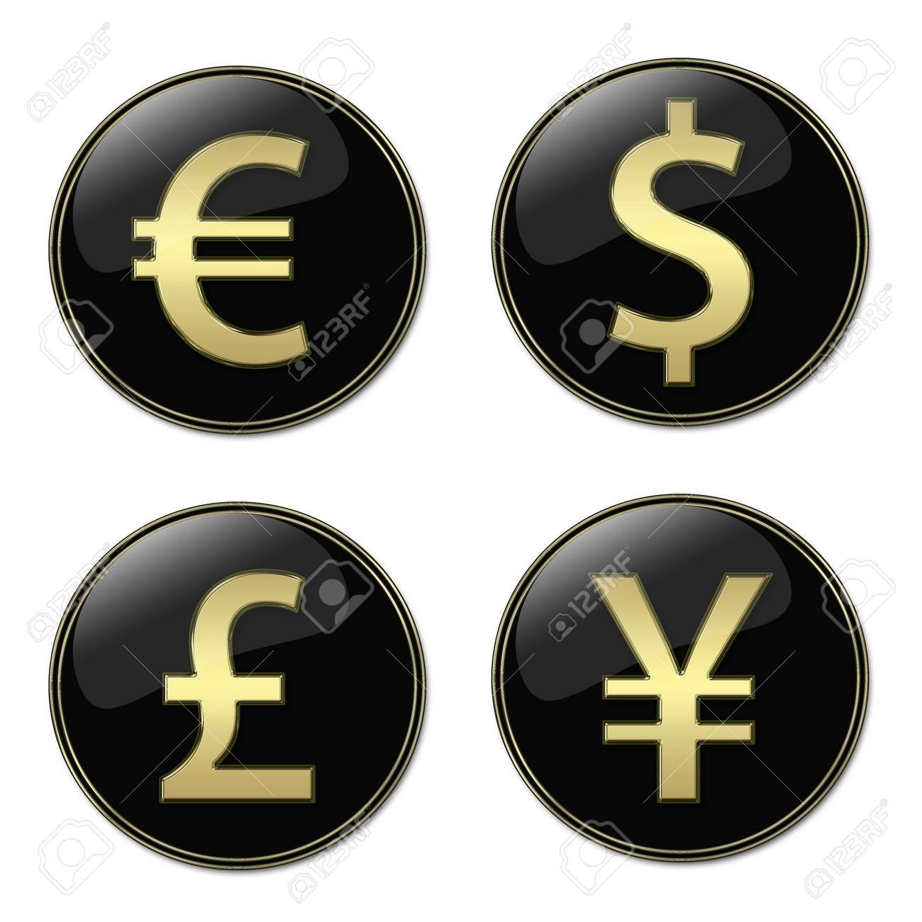 Aed currency symbol choice image symbol and sign ideas four different currencies signs buttons stock photo picture and four different currencies signs buttons stock photo biocorpaavc