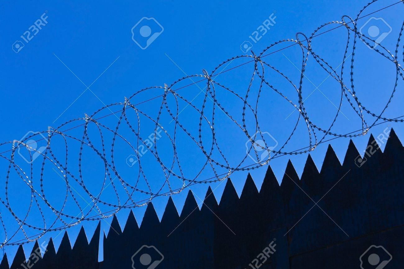Original barbed and smoke industrial background. Stock Photo - 9445106