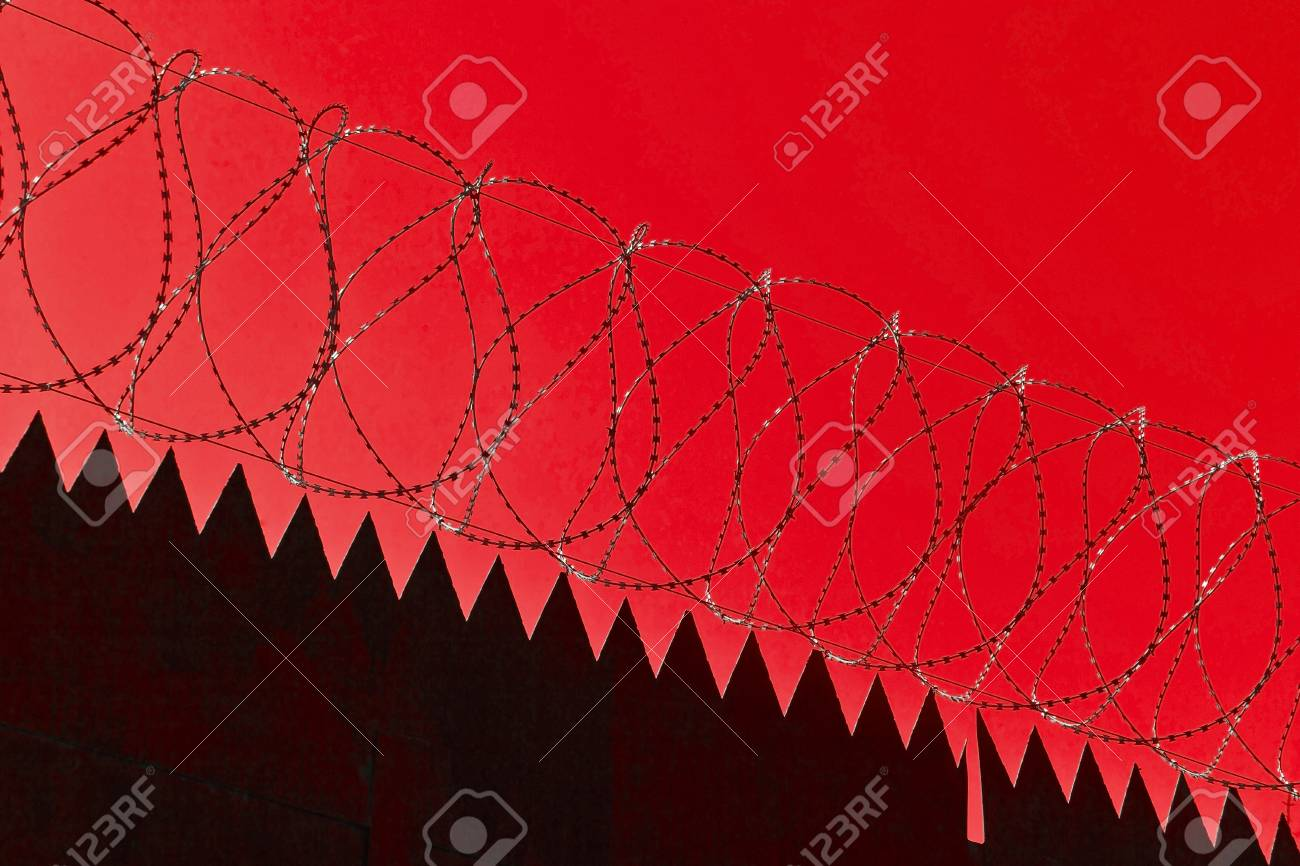 Original barbed and smoke industrial background. Stock Photo - 9445111