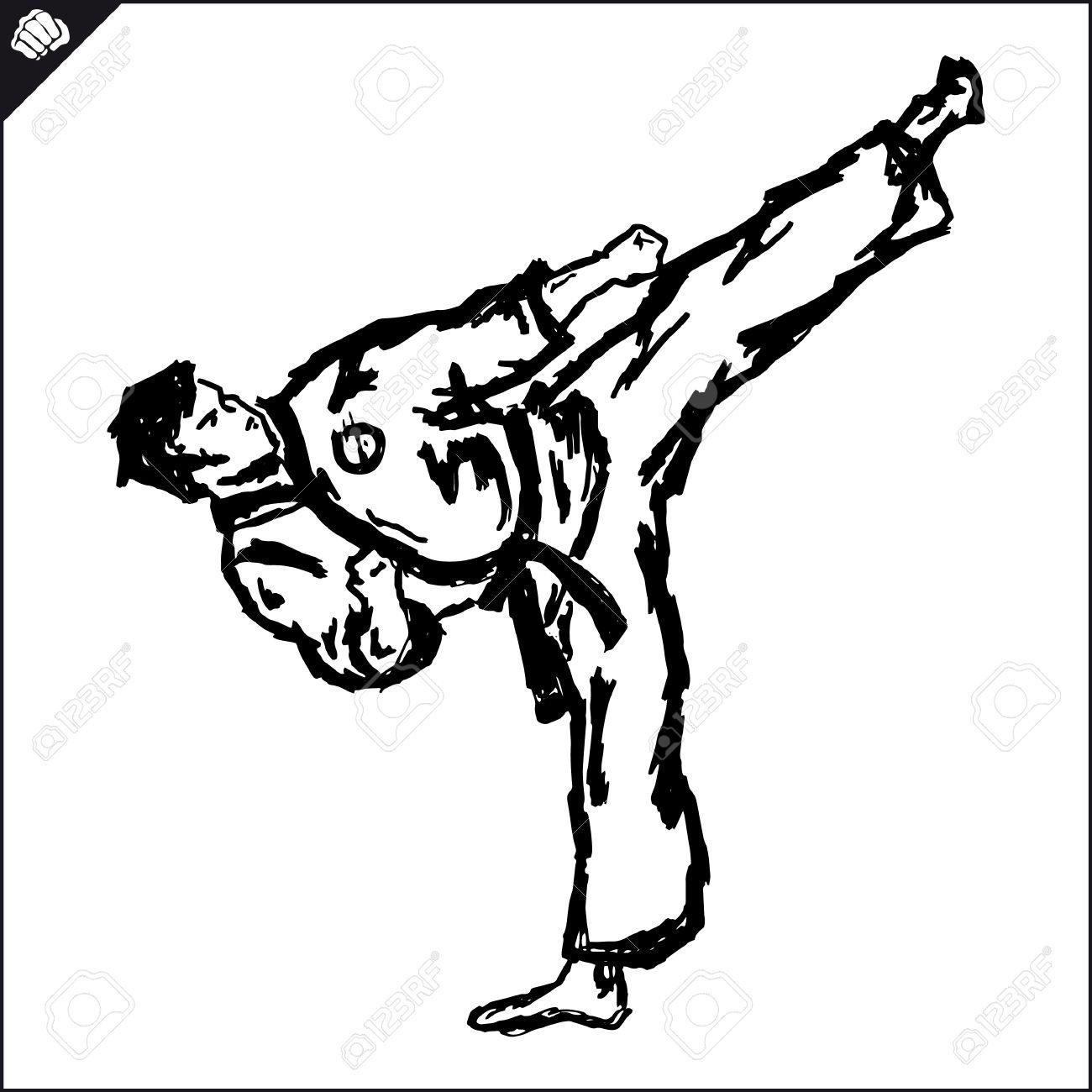 fighting arts karate taekwondo hapkido jiu jitsu royalty free rh 123rf com brazilian jiu jitsu clipart Cartoon Jiu Jitsu