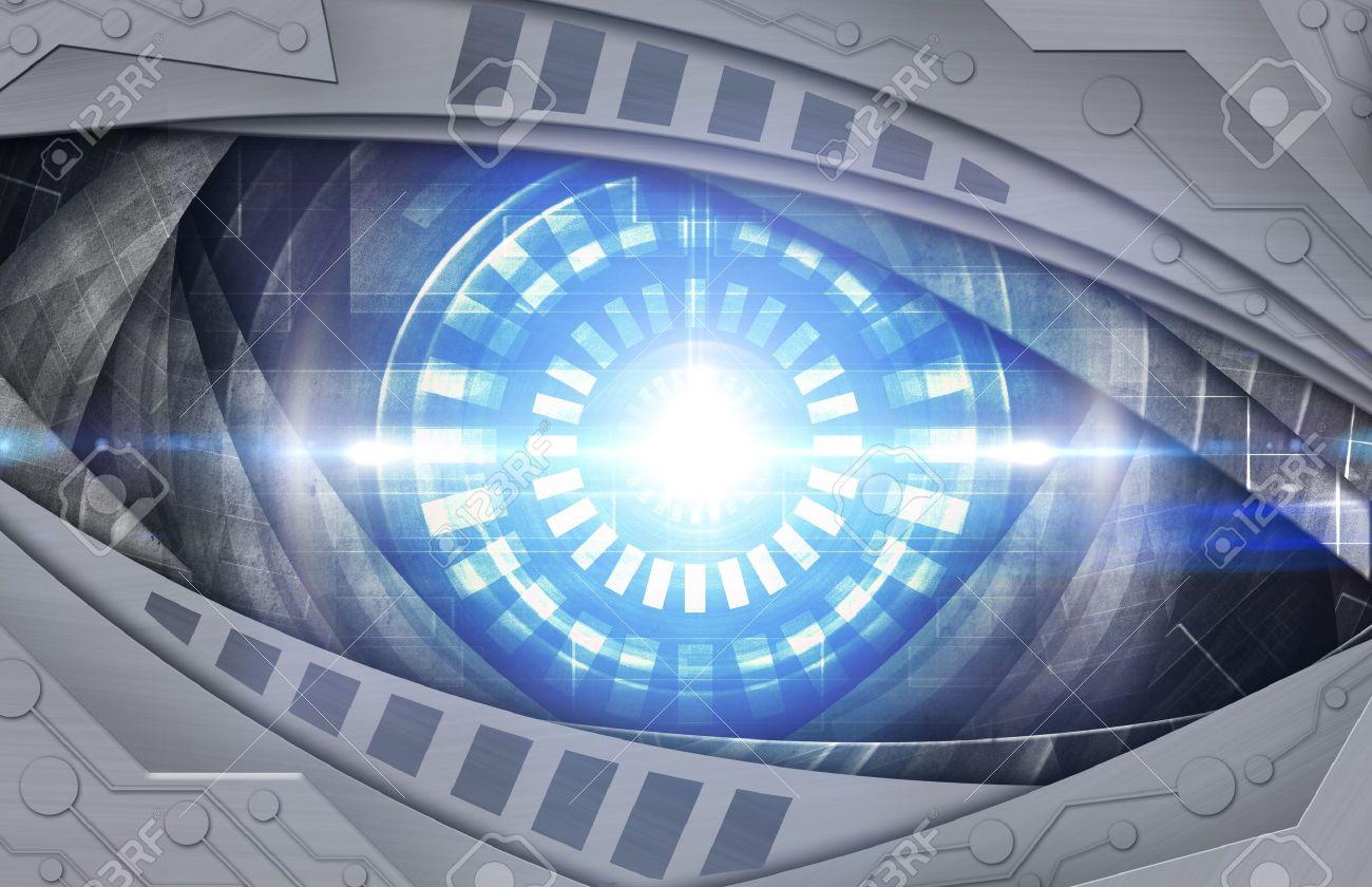 abstract blue robot eye Stock Photo - 12751889