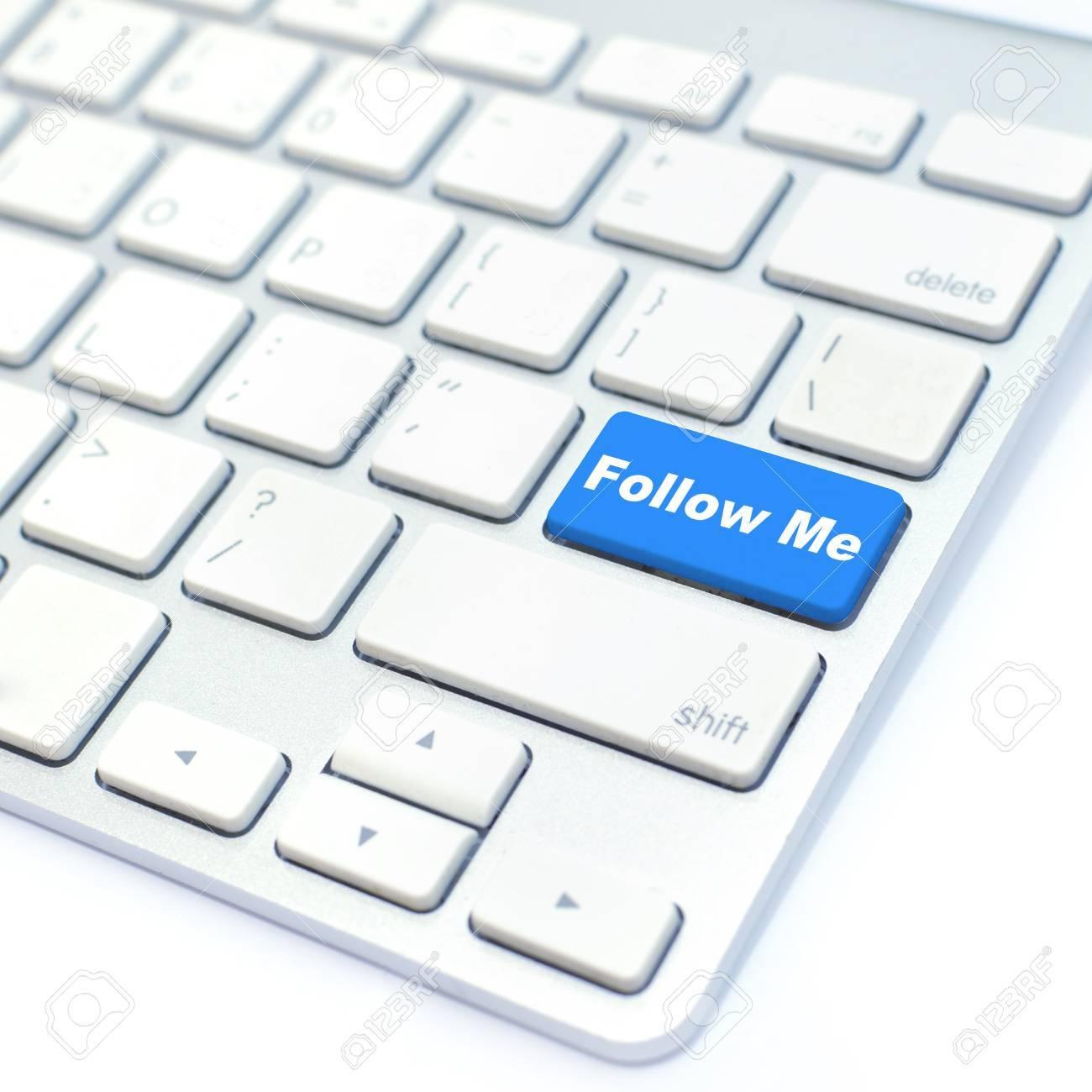 follow me button Stock Photo - 12927467