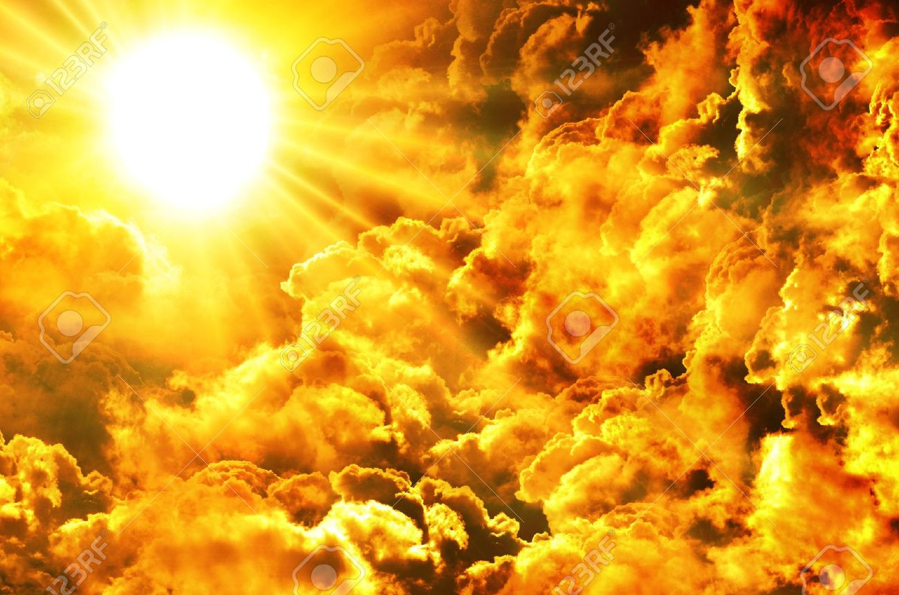 Sunset   sunrise with clouds, light rays and other atmospheric effect Stock Photo - 12927625