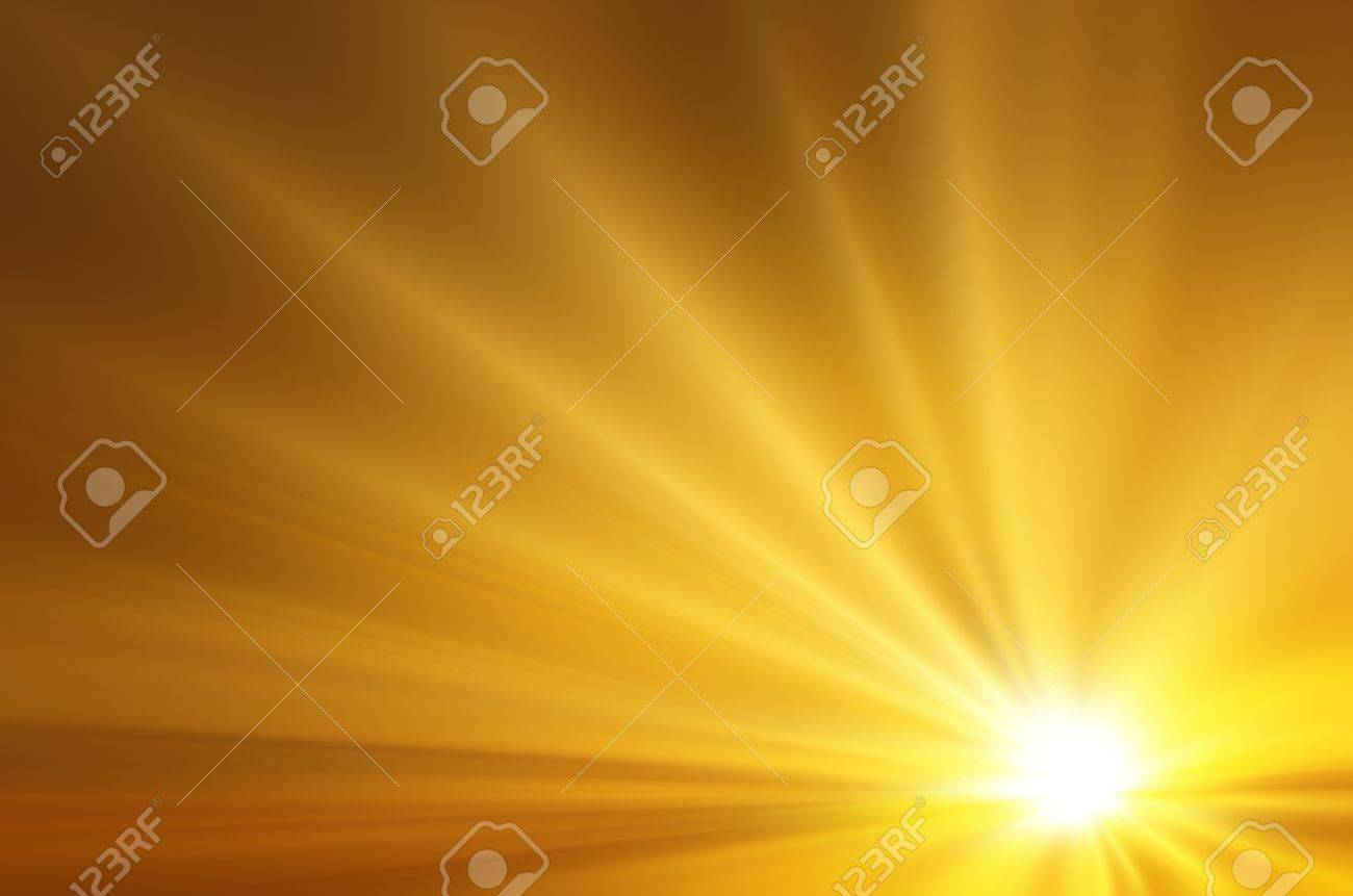 Illustration of a burning sun, or star and beautiful rays of light Stock Illustration - 14924911