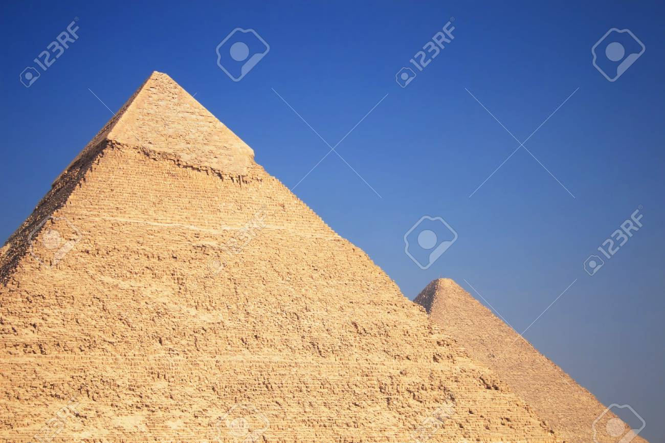 The great ancient Pyramids in Giza, near Cairo (Egypt) Stock Photo - 2632693