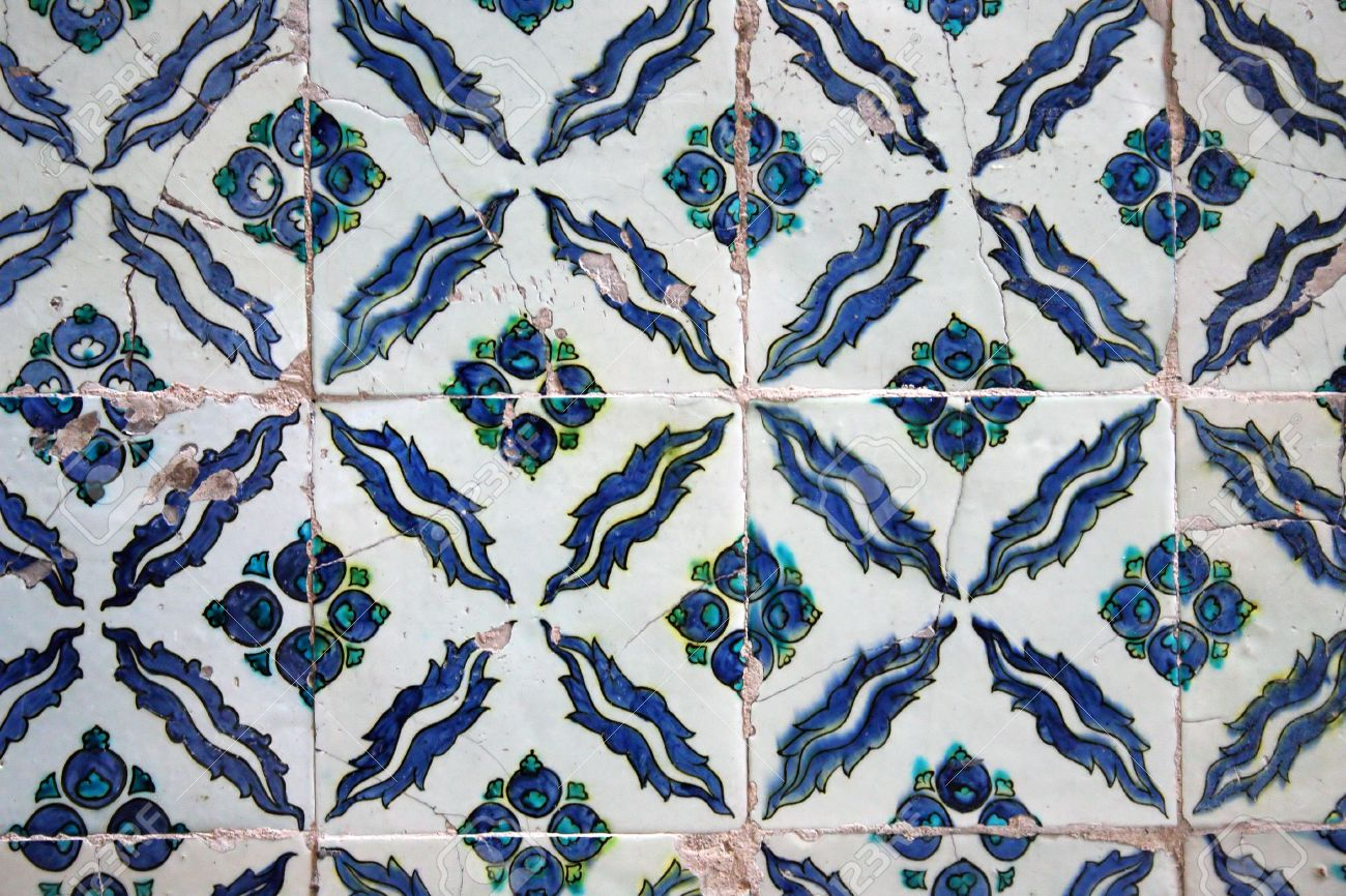 Alte Fliesen Muster Auf Keramischen Wand Im Topkapi Palast In - Feinsteinzeug fliesen alte muster