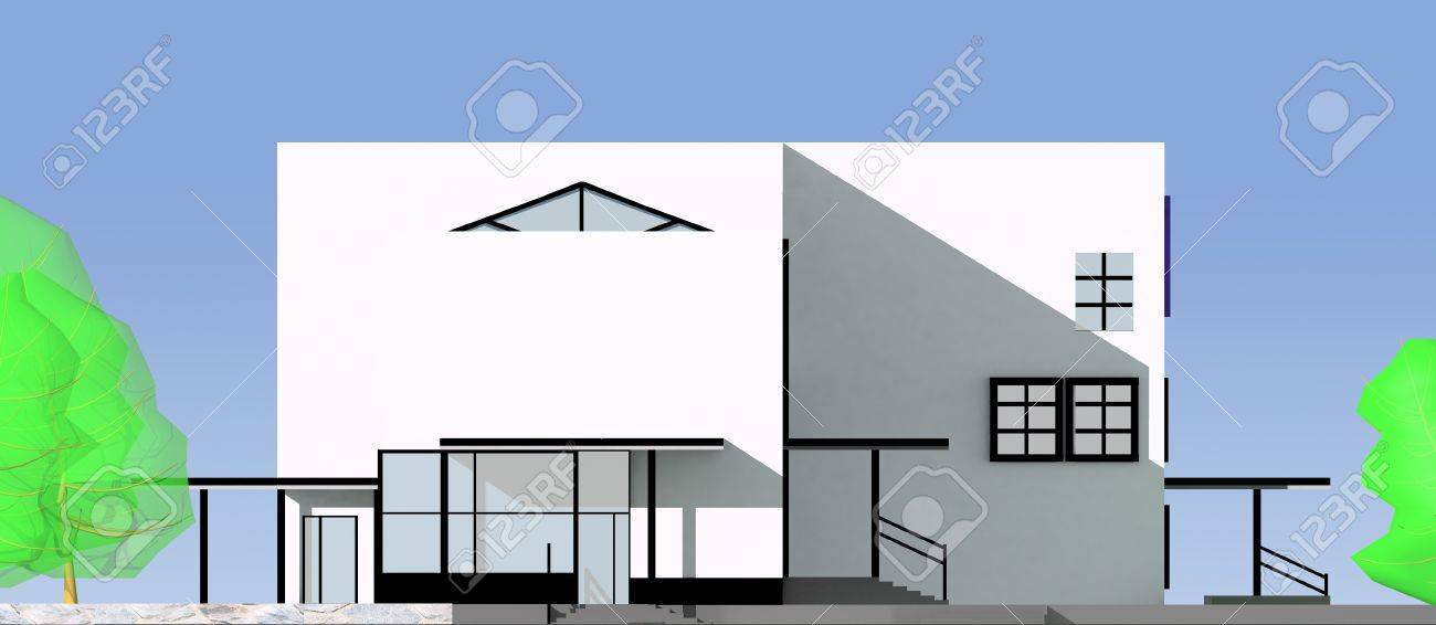 the project of a modern building Stock Photo - 15407579