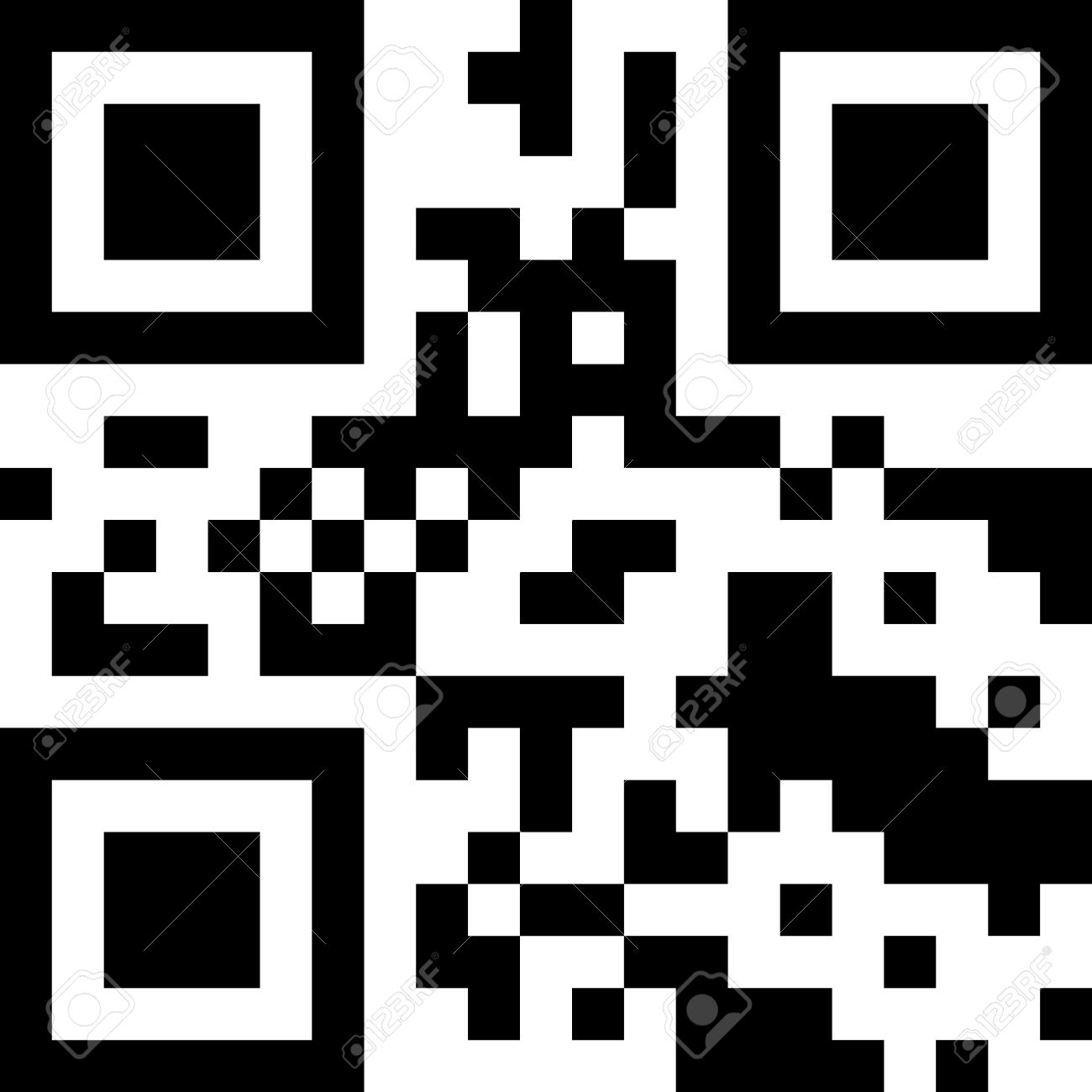 sample qr code ready to scan with smart phone