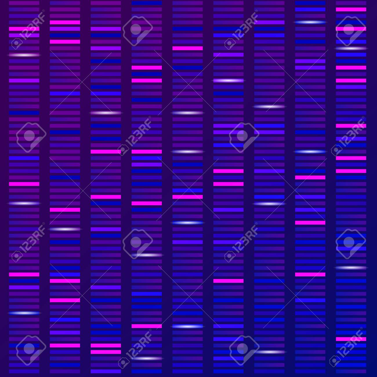 Genome science structure visualization, DNA test background. Vector illustration - 124926063