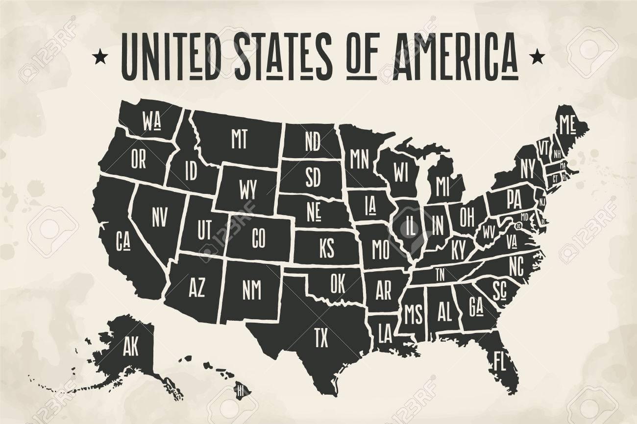 Amerika Karte Schwarz Weiß.Stock Photo