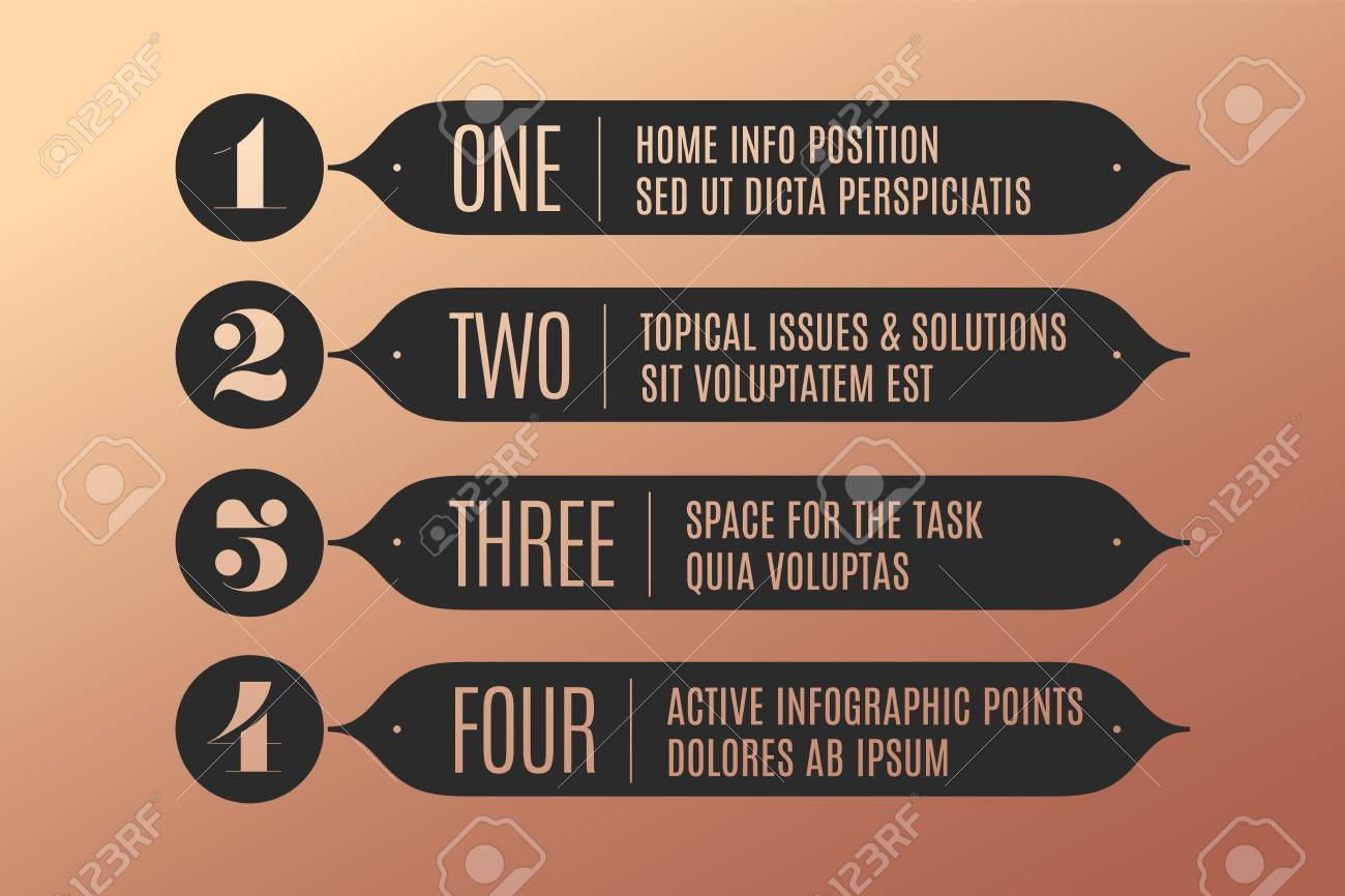 Retro Bank Design.Set Of Infographic Design Vintage Arrows Banners Numbers And