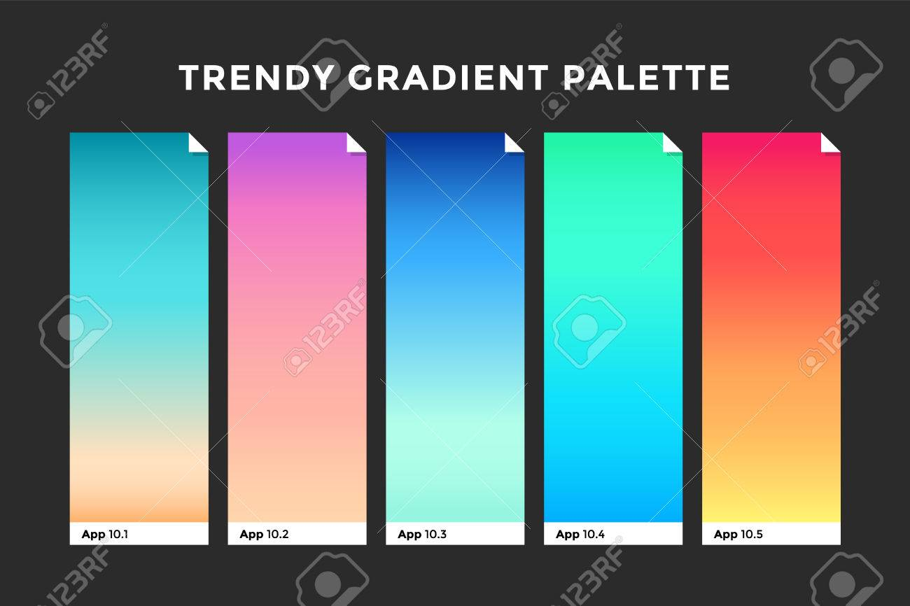 Trendy gradient swatches collection palettes of gradient swatches collection palettes of gradient swatches for business infographic social media ccuart Choice Image