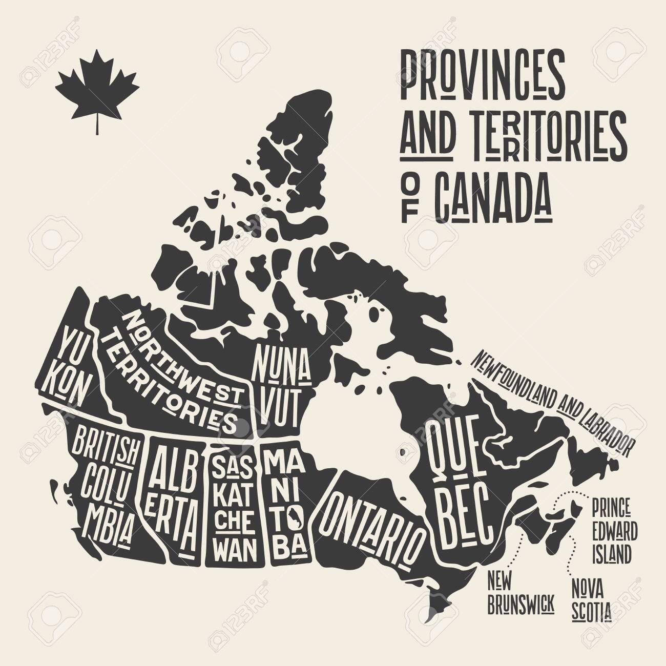 Canada Map Poster Map Canada. Poster Map Of Provinces And Territories Of Canada