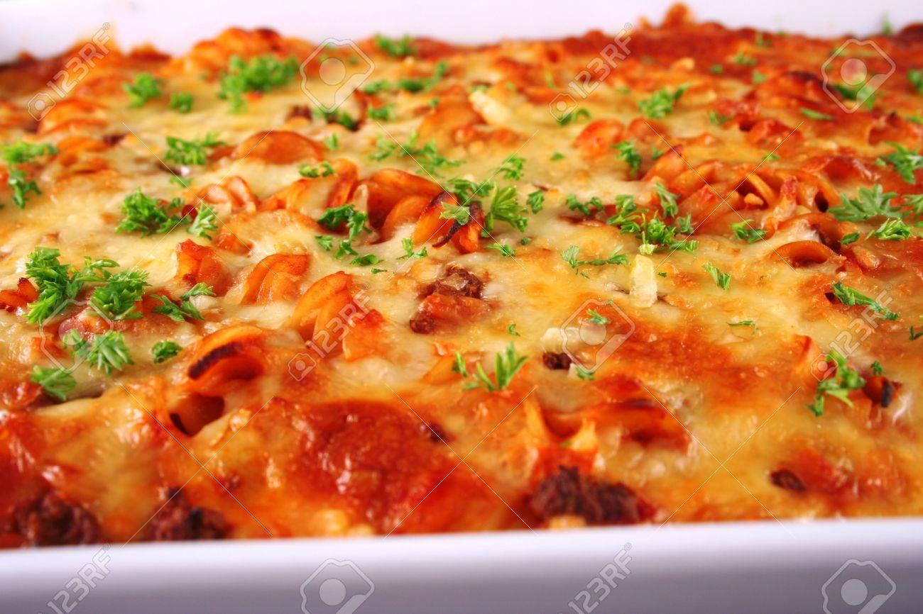 Pasta bake close up Stock Photo - 374628