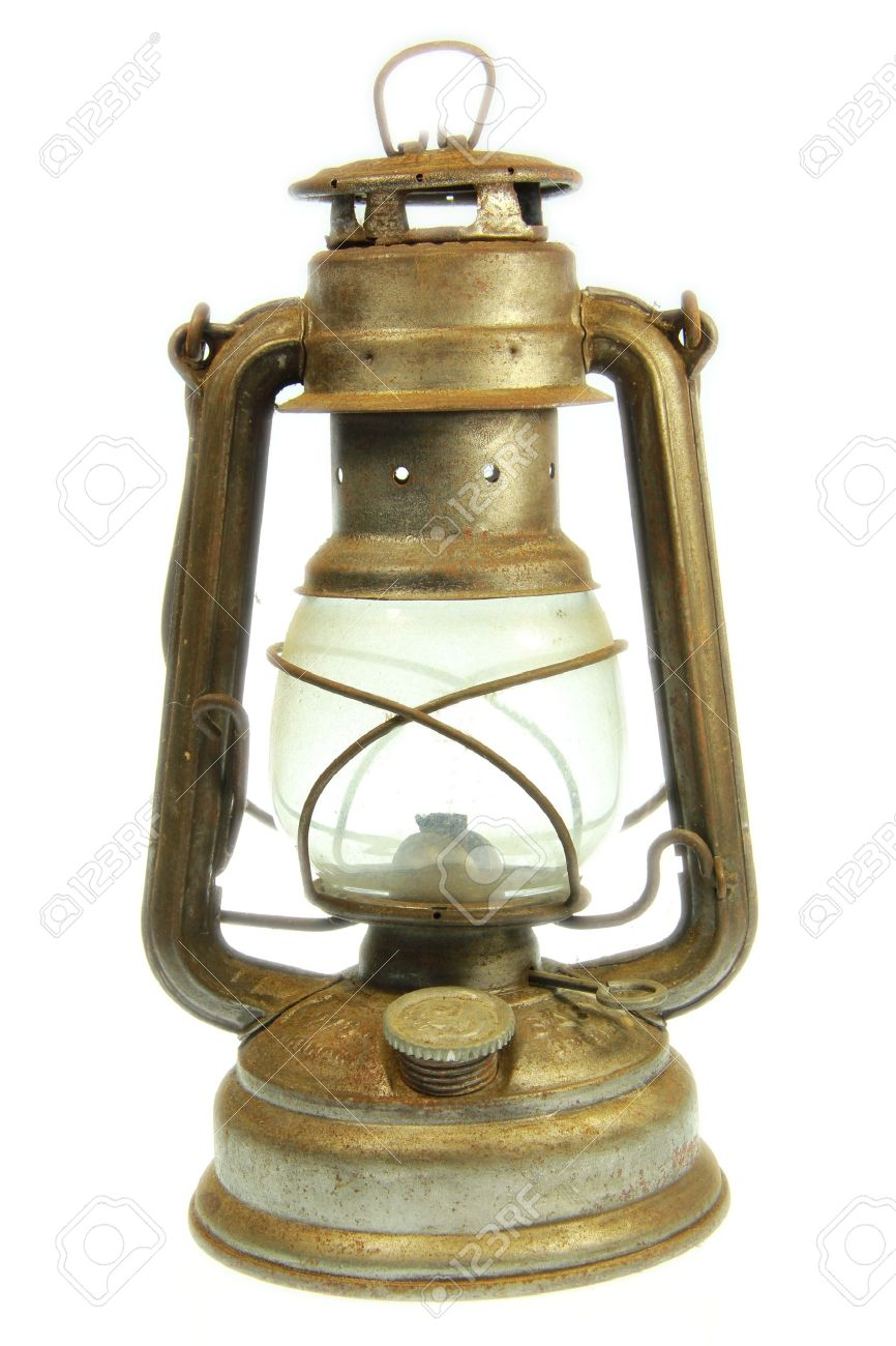 A Old petrol lamp with white background Stock Photo - 16983352