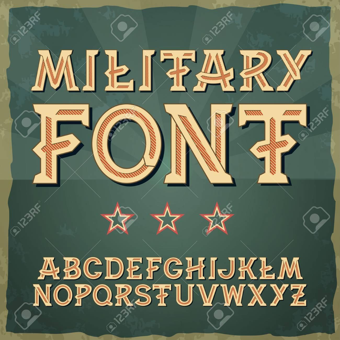Retro type font vintage typography vintage alphabet vector font for labels titles