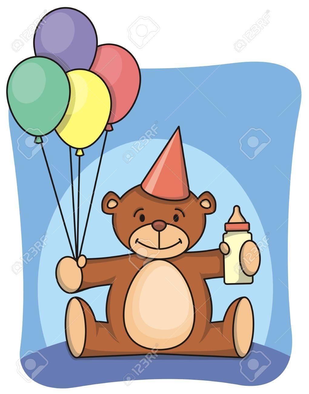 Teddy bear celebrates first birthday - 1885772