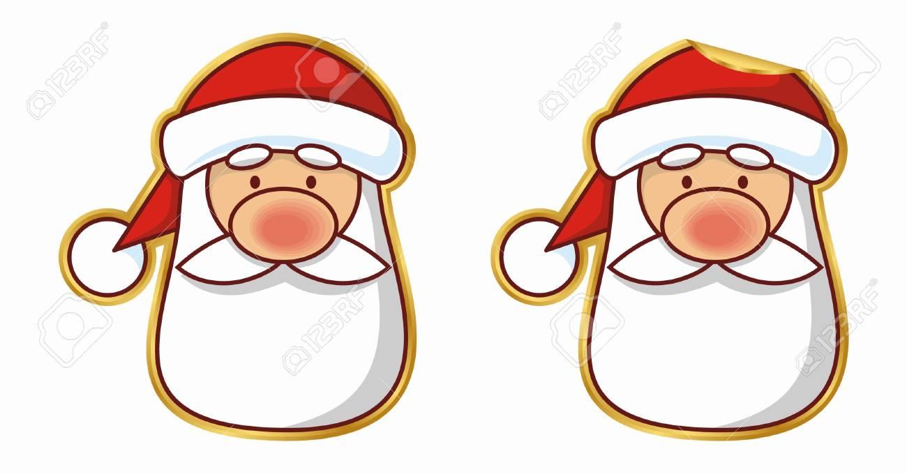 Santa sticker, normal and peeling version - 2216548