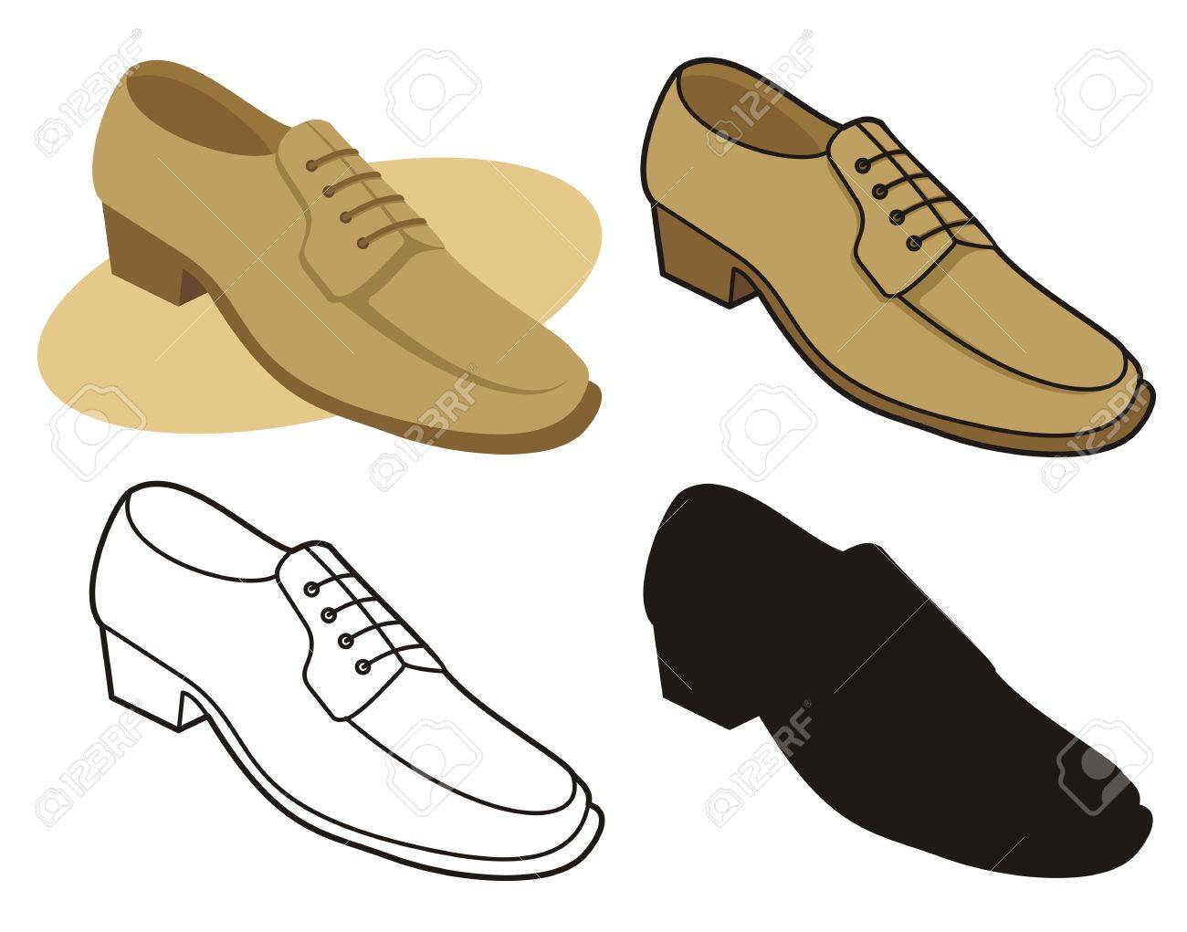 Male shoe in four versions 1 - 2626803