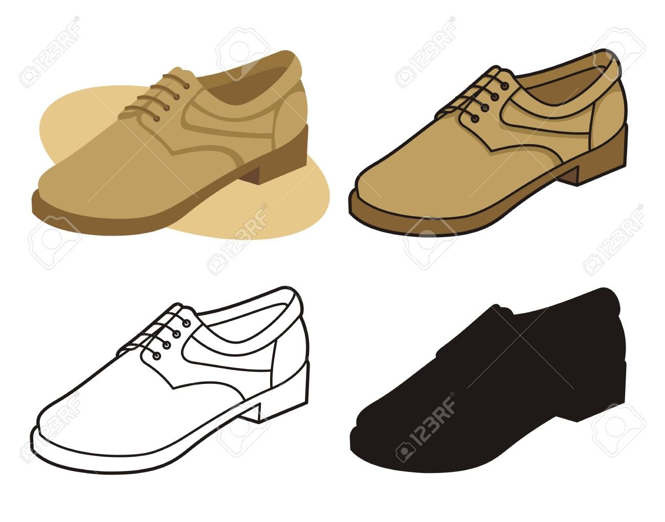 Male shoe in four versions 4 - 2626804