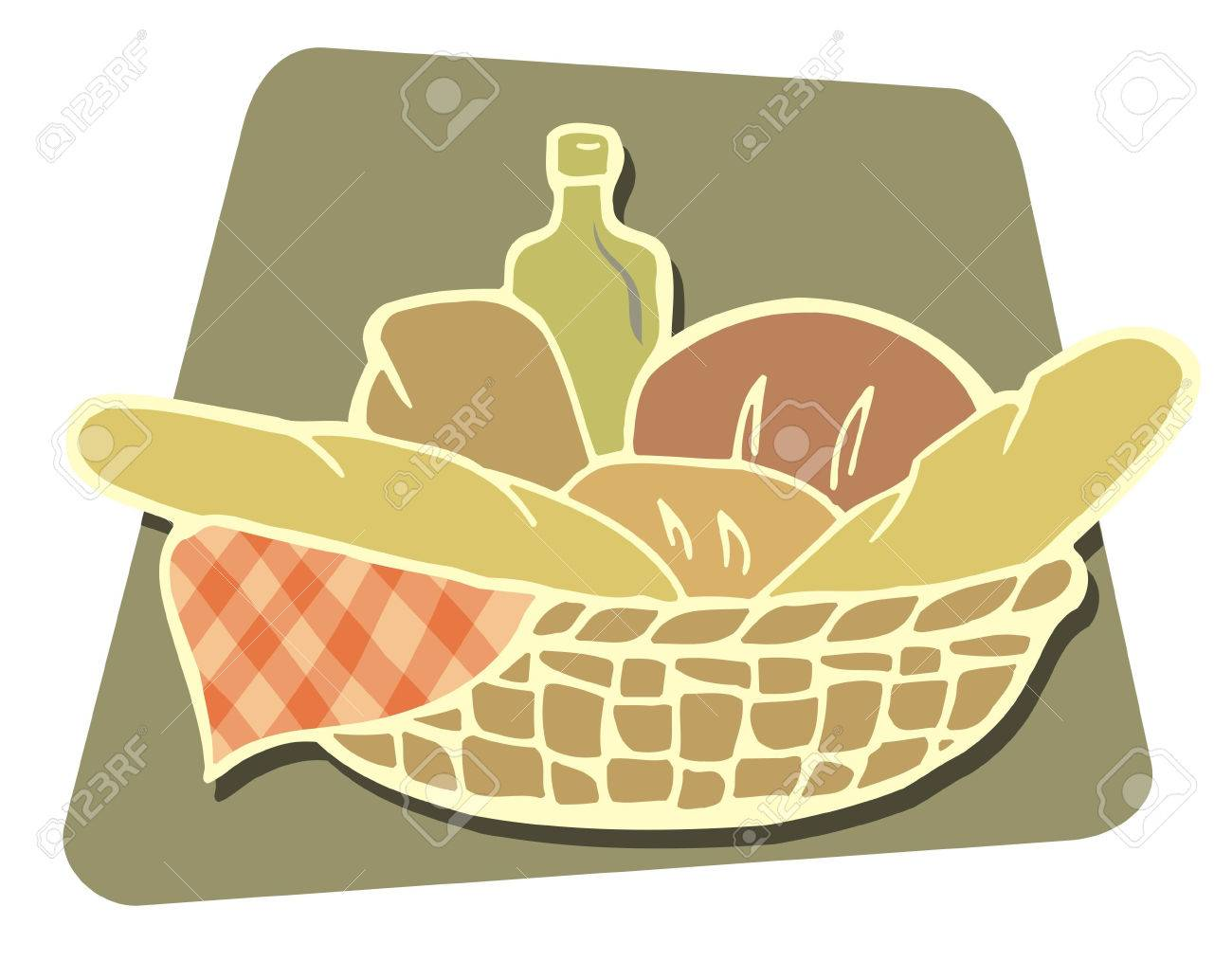 Basket of breads icon - 2941944