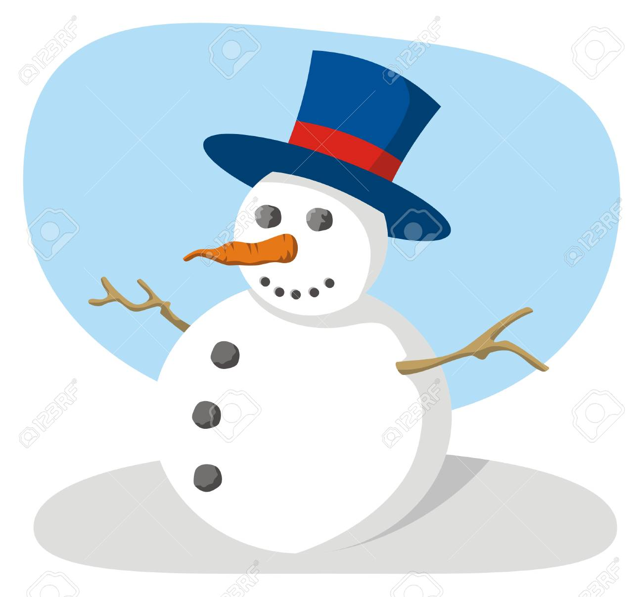 Snowman with hat - 2941945