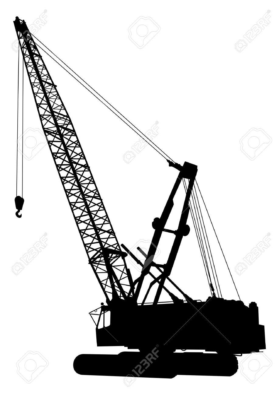 Silhouette of construction crane - 2985979
