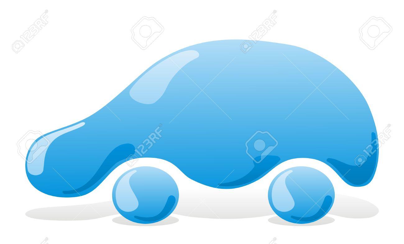 Car wash icon with blue liquid vehicle - 3654286