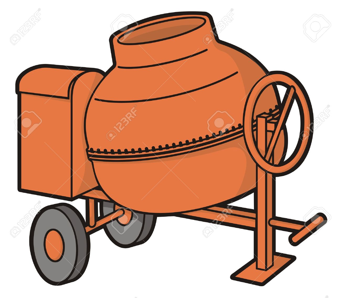 Orange Cement Mixer Orange Mini Concrete Mixer