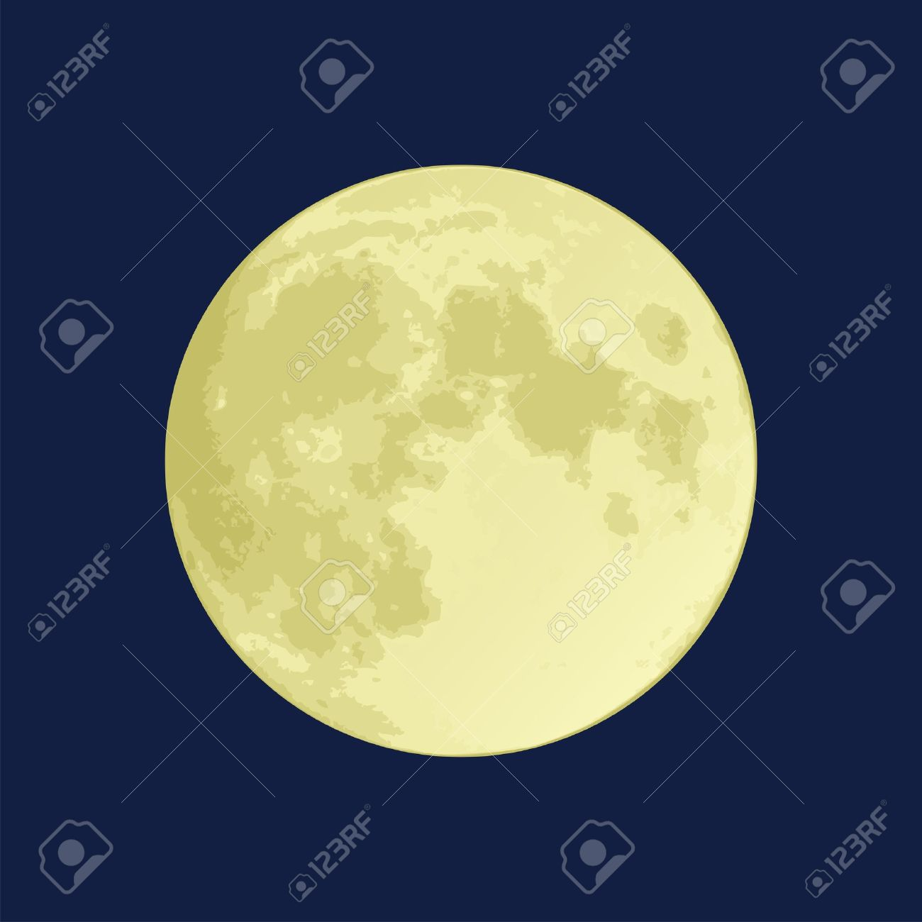 Illustration of a full moon on a dark blue sky Stock Vector - 9851157