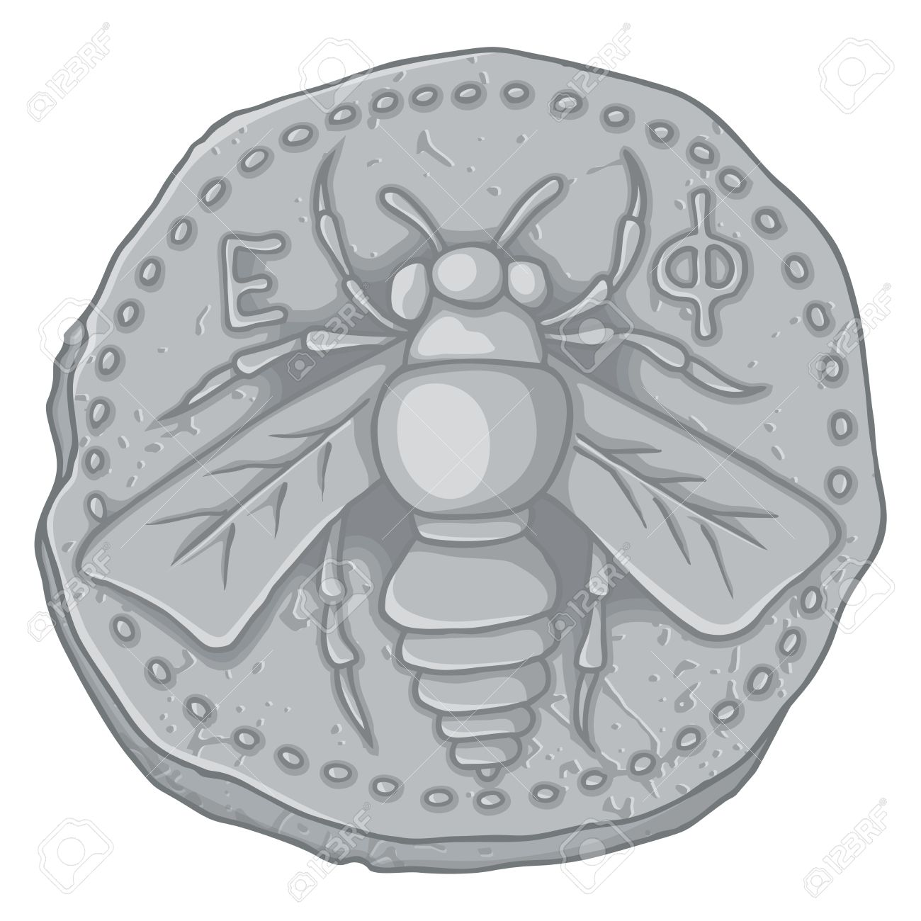 Ancient greek coin of ephesus ionia 400 bc with honey bee symbol ancient greek coin of ephesus ionia 400 bc with honey bee symbol of artemis goddess and biocorpaavc Choice Image