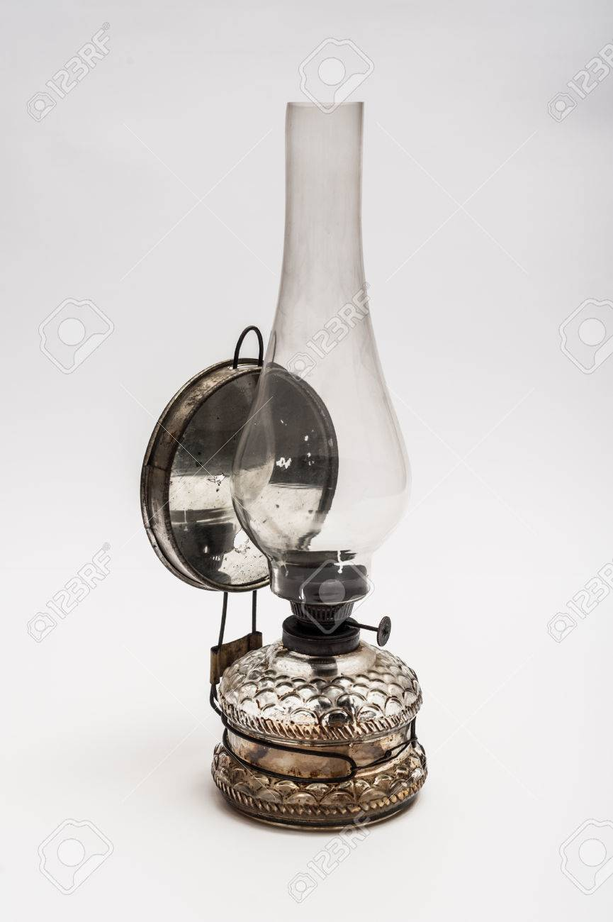 Stock Photo   Vintage Gas Lamp On A White Background
