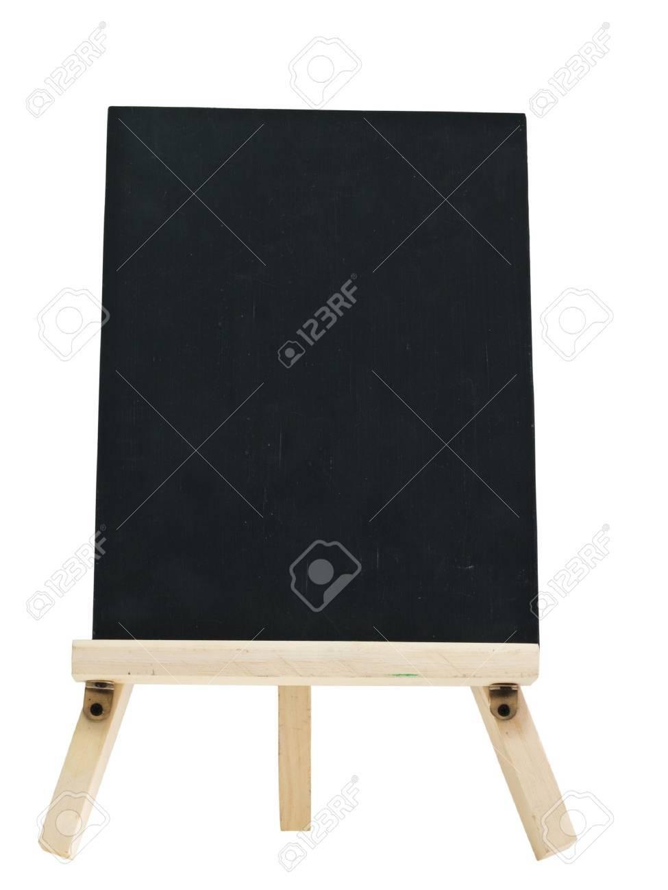empty blackboard with tripod wooden Stock Photo - 9171536