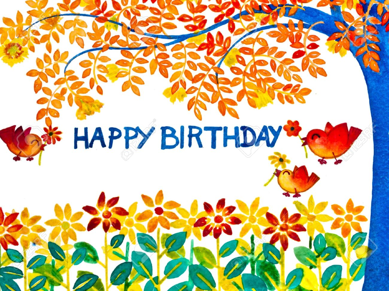 Colorful happy birthday greeting card stock photo picture and colorful happy birthday greeting card stock photo 9213598 m4hsunfo